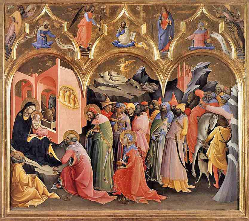 <i>Adoration of the Magi</i>, Lorenzo Monaco (Florentine) ca. 1422