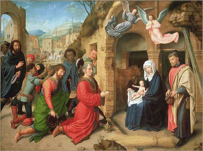 Adoration of the Magi ca. 1495 Gerard David (1460-1523 Flemish)