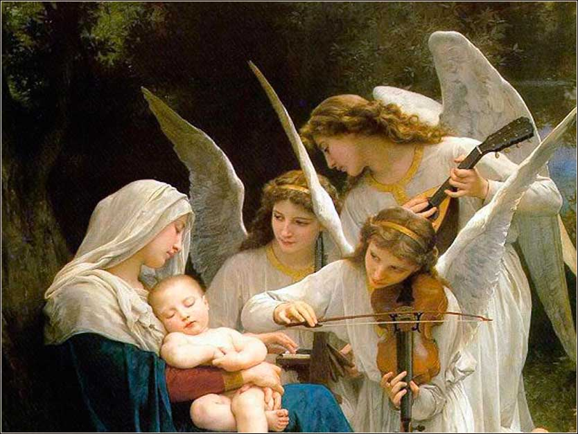 i>Virgin of the Angels (detail)</i> Bouguereau ca. 1881.