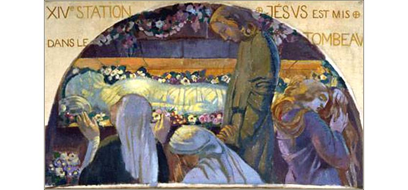 <i>Jesus is Put in the Tomb</i> by Maurice Denis, ca. 1900.