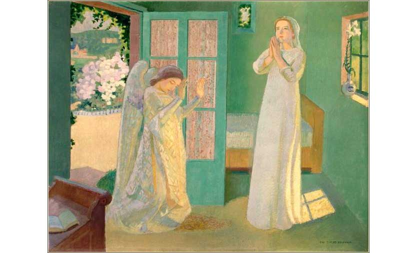 <i>The Angel Gabriel and Mary</i> by Maurice Denis, ca. 1902.
