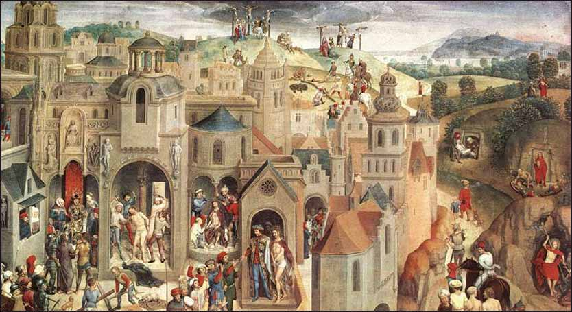 Detail from <i>Scenes from the Passion of Christ</i> by Hans Mamling, c. 1470.