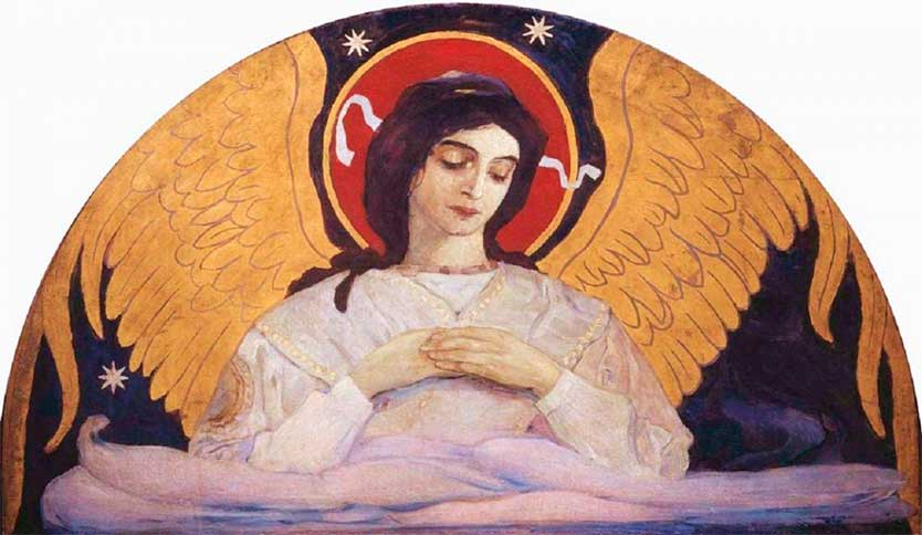 <i>Angel of Morning</i> by Mikhail Nesterov, ca. 1901.