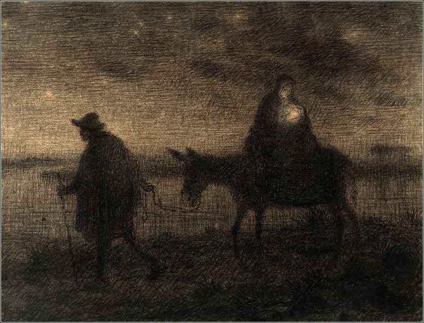 <i>The Flight into Egypt</i> by Jean François Millet ca. 1864