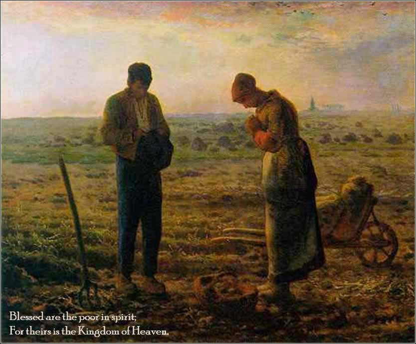 Angelus by Millet, showing humility