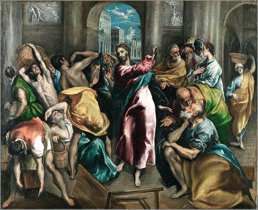 <i>Christ Driving the Money Changers from the Temple </i> by El Greco, ca. 1600.