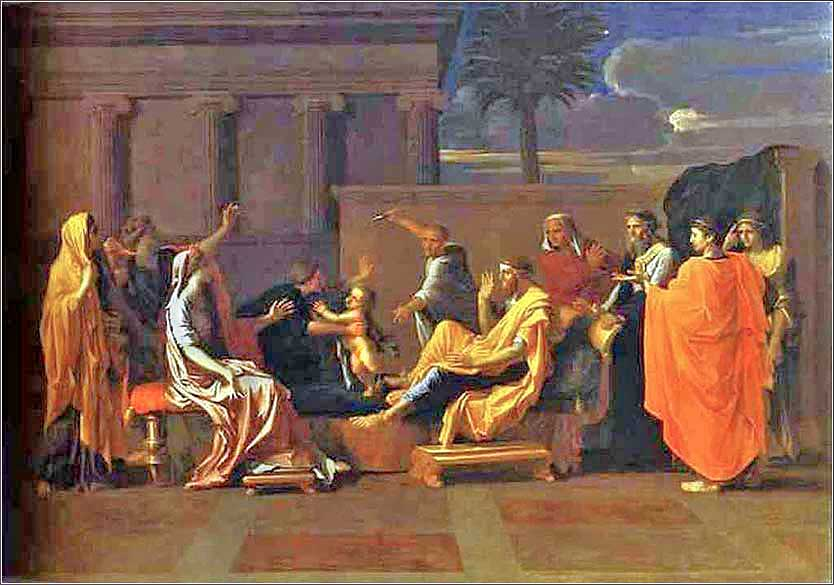 Baby Moses Trampling Pharaoh's Crown, Nicholas Poussin ca. 1645