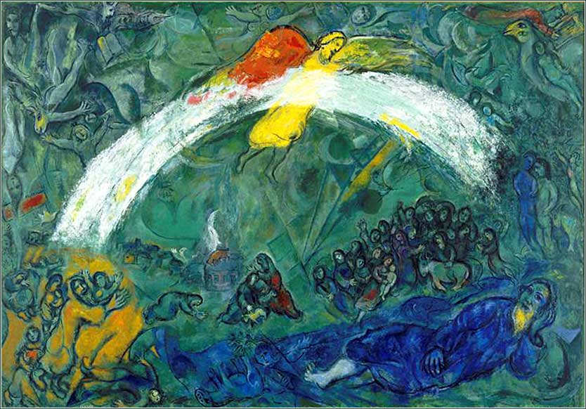 <i>Noah and the Rainbow</i> by Marc Chagall, ca. 1966.
