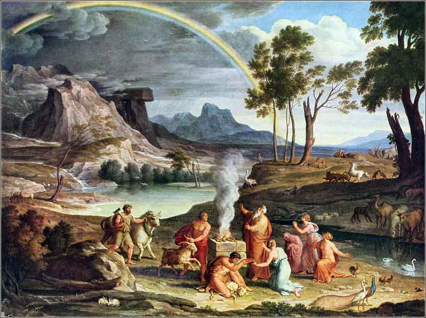 Noah Thanks Offering with Rainbow, Joseph Koch