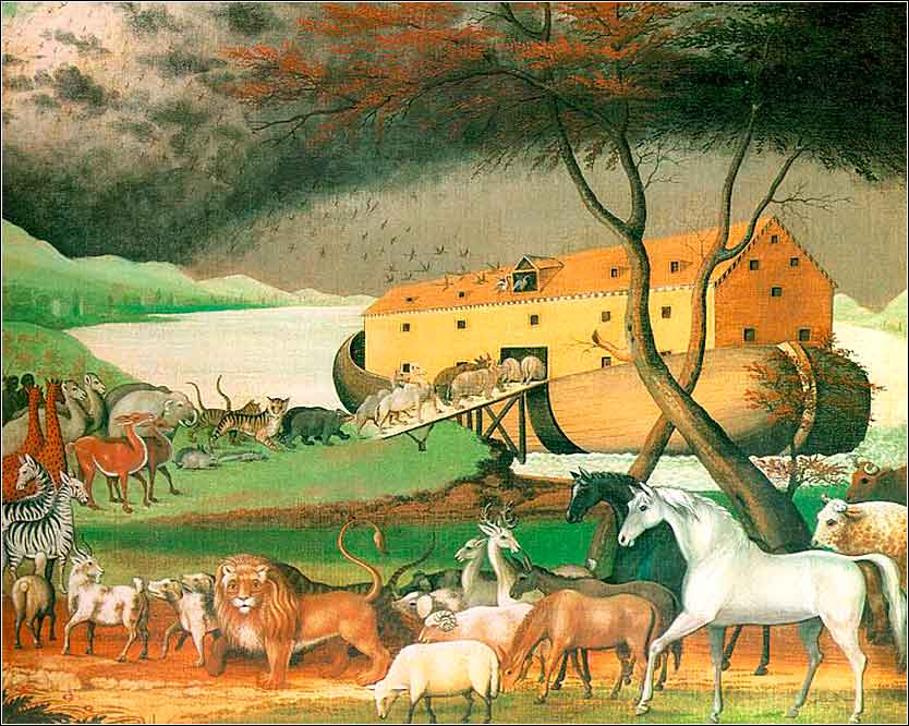 <i>Noah's Ark</i> by  Edward Hicks (1846), a Quaker minister.