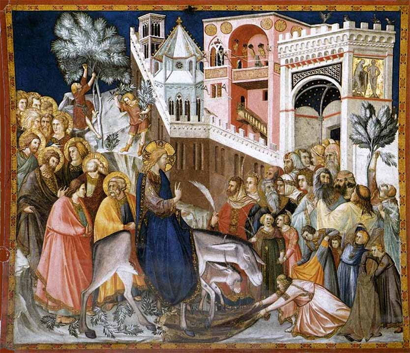 Entry into Jerusalem, fresco in the Basilica of St. Francis in Assisi, by Pietro Lorenzetti, c. 1320