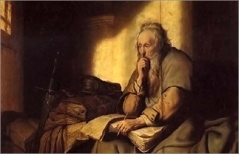 Saint Paul in Prison, Rembrandt c. 1627