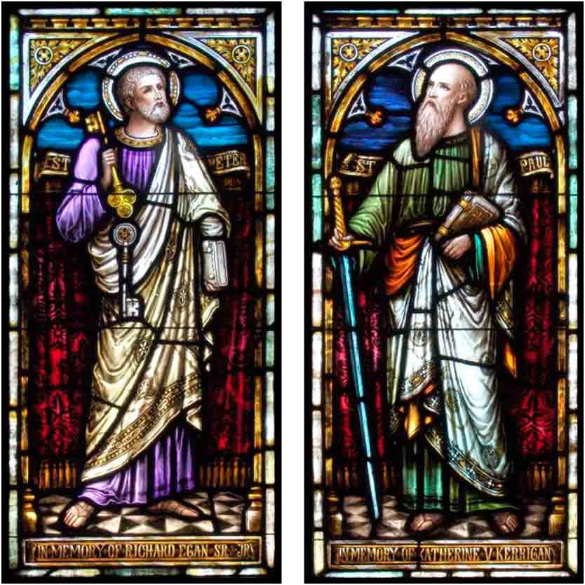 <i>Peter and Paul</i>, stained glass windows from St. Mary of the Assumption Church, Katonah, New York.
