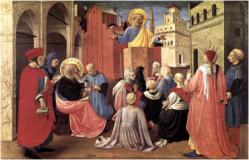 Saint Peter Preaching the Bible, Fra Angelico