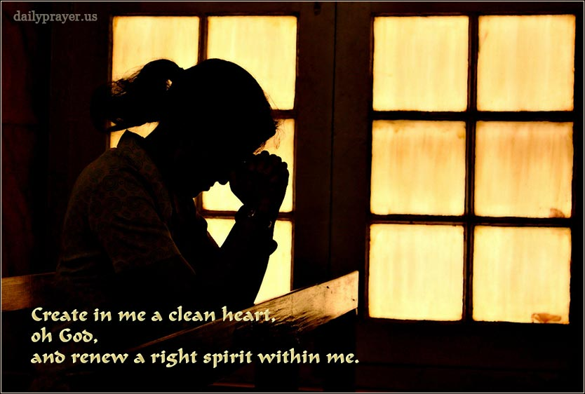 Create a clean heart within me, oh God.