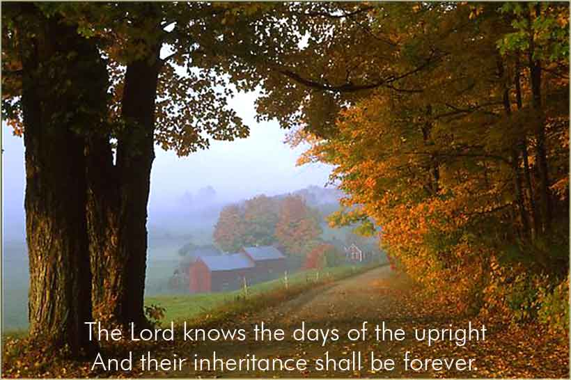 The Lord knows the days of the upright . . .