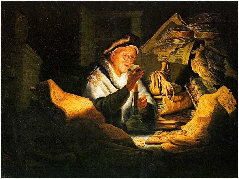 <i>Parable of the Rich Man</i>, Rembrandt ca. 1627