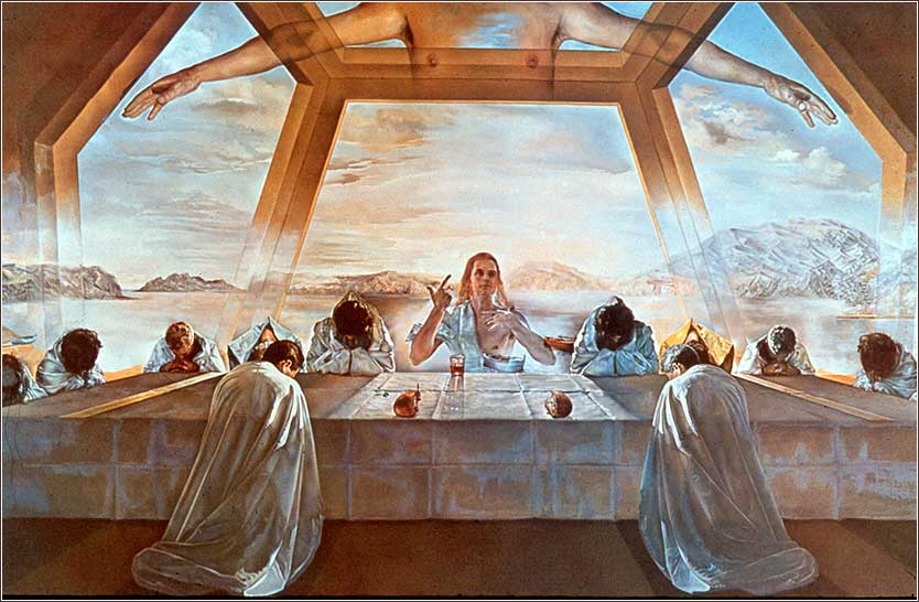 <i>Sacrament of the Last Supper</i>, by Salvador Dali, ca. 1956.