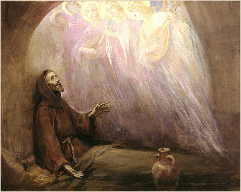 <i>Life of Francis of Assisi</i> by Jose Benlliure y Gil, ca. 1910.