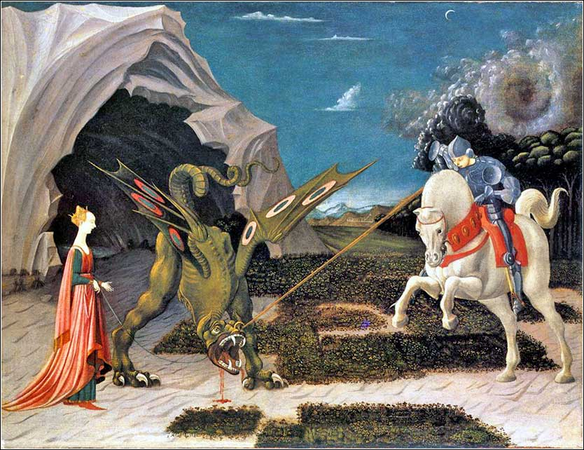 <i>Saint George and the Dragon</i> by Paolo Uccello, ca. 1470.