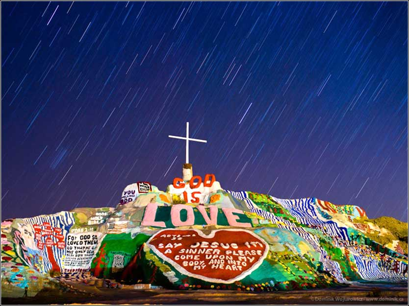 Salvation Mountain, Niland, California, by Leonard Knight.