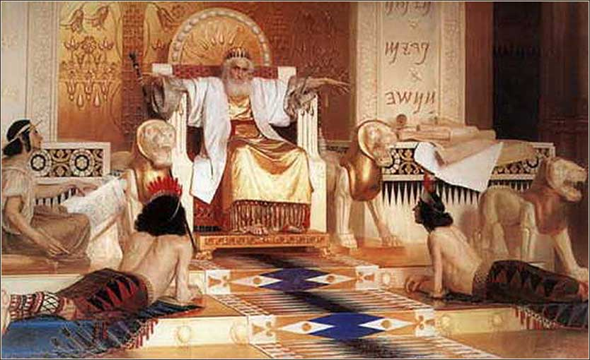 <i>All is Vanity</i>, Solomon on his throng painted by Isaak Asknaziy, ca. 1870.