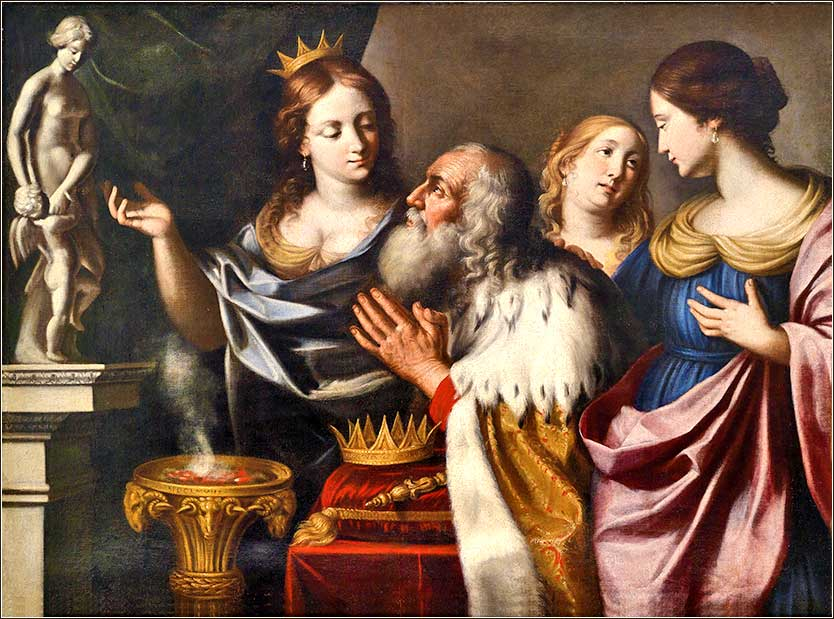 <i>The Idolatry of King Solomon</i> by Giovanni Venanzi di Pesaro, ca. 1680.