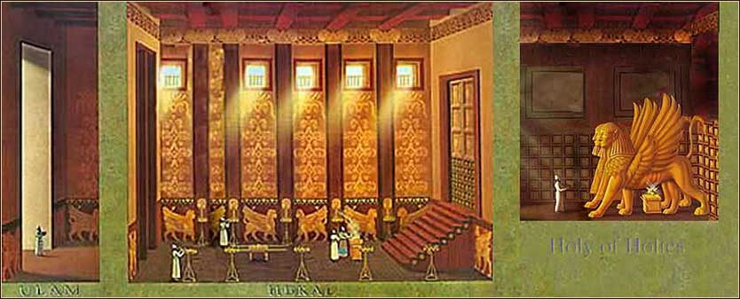 Artist's recreation of the interior of Solomon's Temple