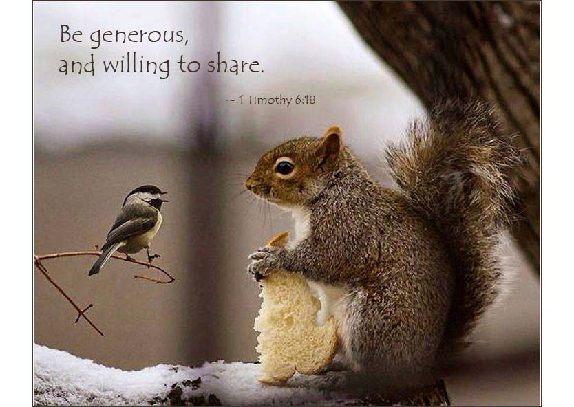 "Timothy 6:18 | ""Be generous, and willing to share"""