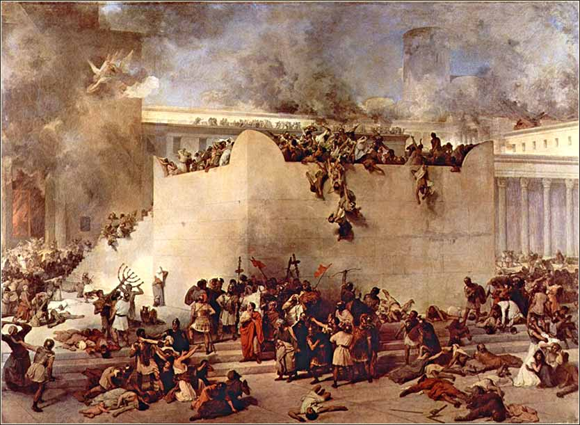 <i>Destruction of the Temple</i> by Francesco Hayea, ca. 1867.