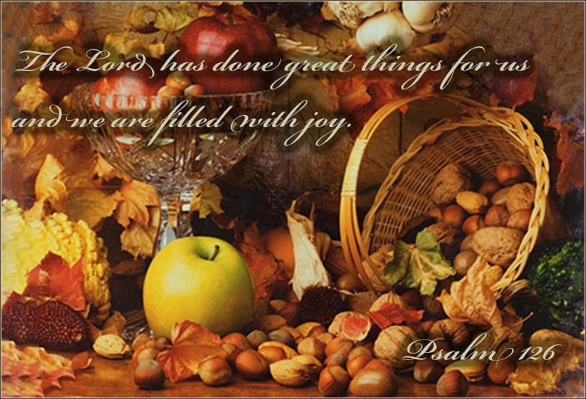 Thanksgiving devotion from psalm 126