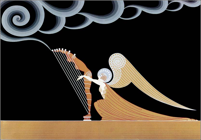 <i>The Angel</i> by the distinctive Art Deco designer Erté (Romain de Tirtoff), ca. 1930.