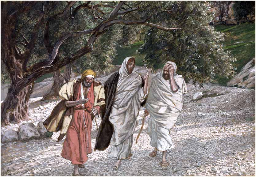<i>The Pilgrims of Emmaus on the Road</i> by James Tissot, ca. 1888