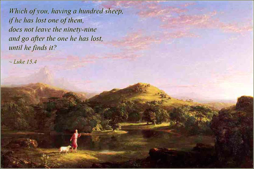 <i>The Good Shepherd</i> by Thomas Cole, ca. 1848.