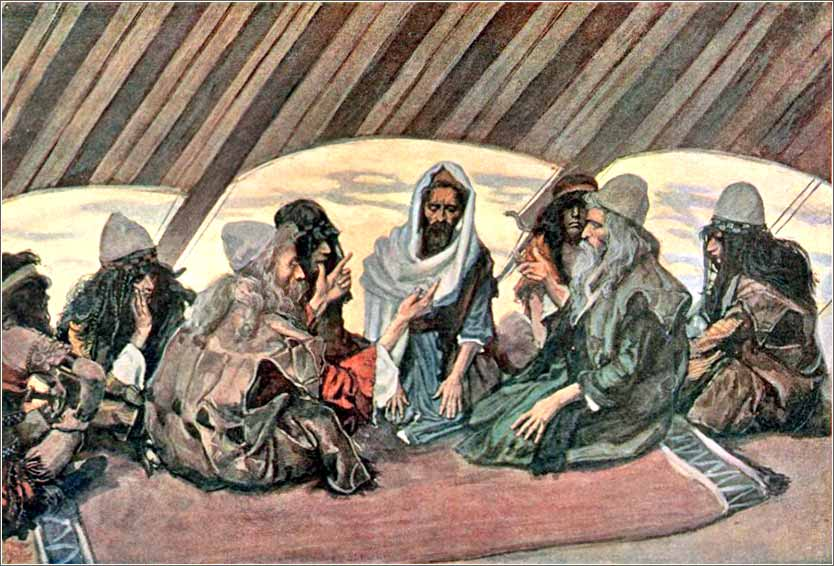 <i>Jethro and Moses</i>, illustration by James Tissot ca. 1895.