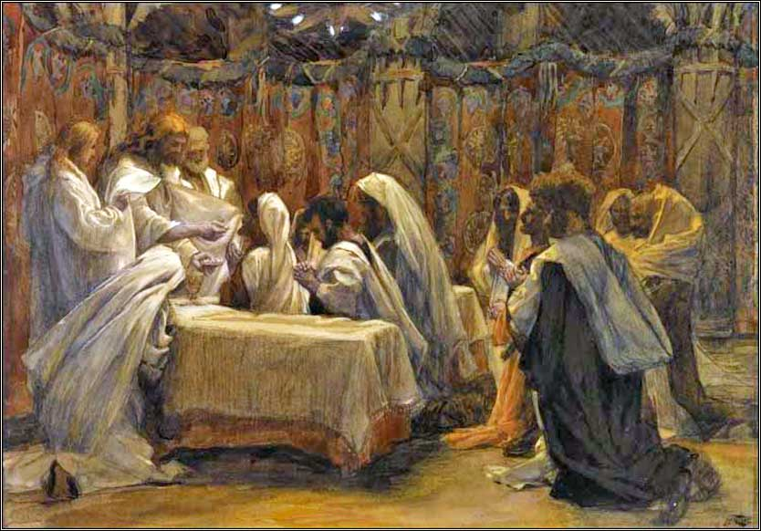<i>Communion of the Apostles</i> by James Tissot, ca. 1886.
