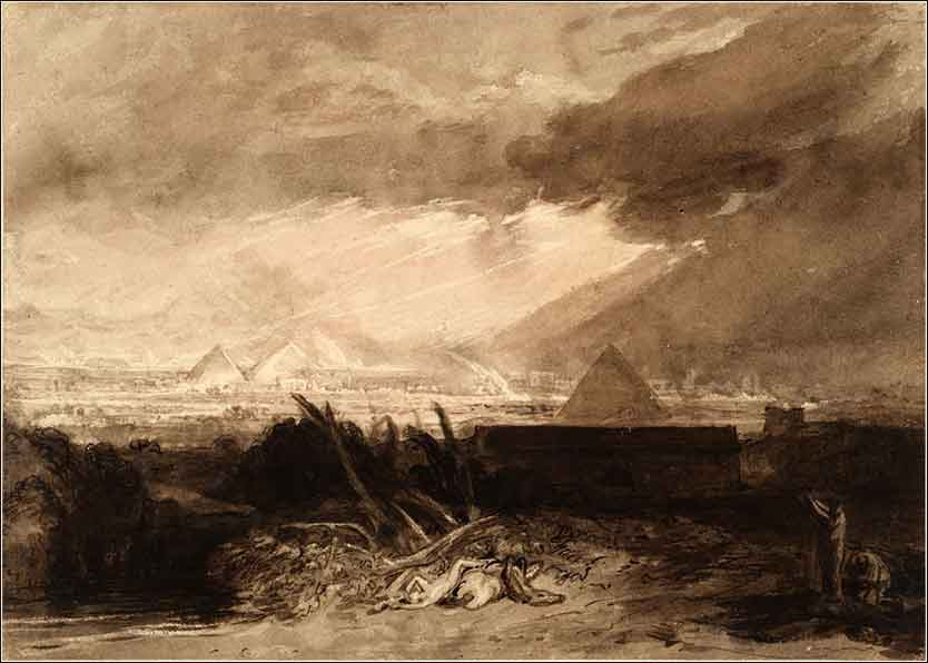 <i>The Seventh (or Fifth) Plague</i> by Joseph William Turner, ca. 1807.