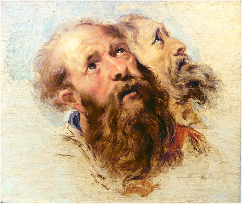 <i>Two Apostles</i> by Peter Paul Rubens, ca. 1611.