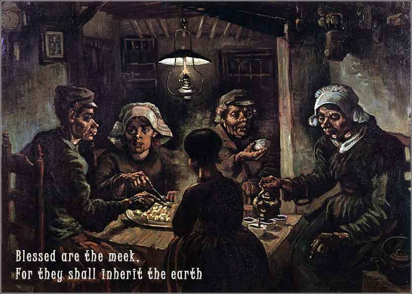 Poverty depicted by Van Gogh in The 'Potato Eaters'