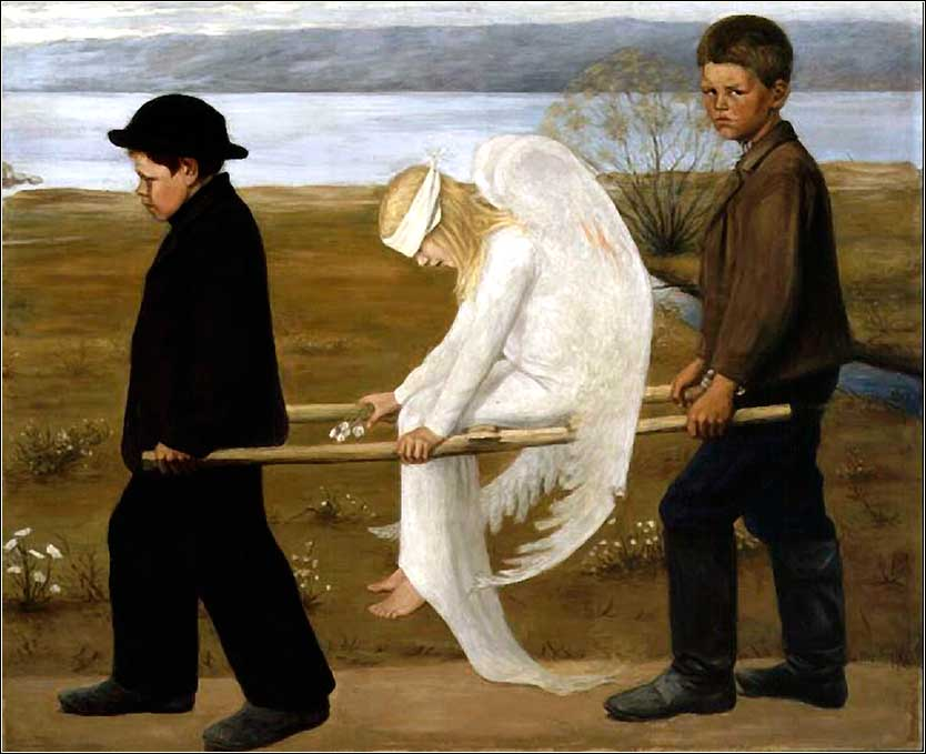 <i>Wounded Angel</i> by Hugo Simberg ca. 1903.