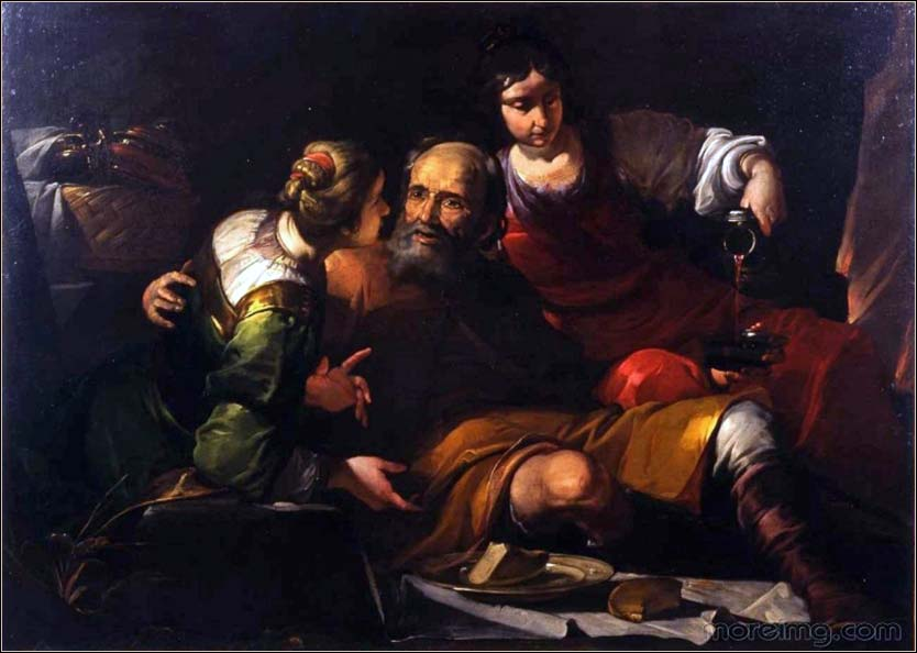 <i>Lot and His Daughters</i>, by Gioacchino Assereto, ca. 1640.