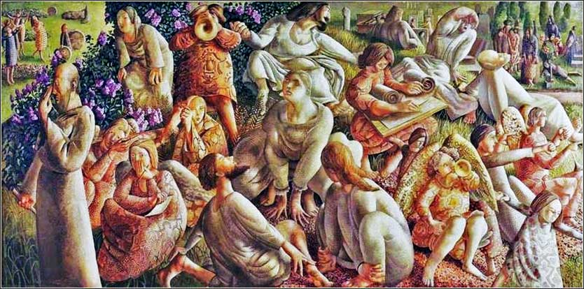 <i>The Resurrection: The Hill of Zion,</i> by Stanley Spencer, ca. 1950.