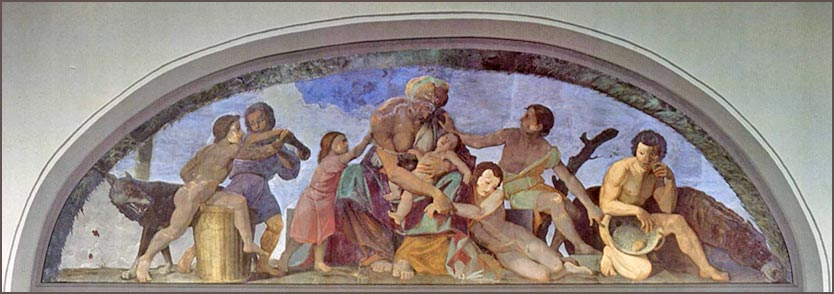 <i>Seven Years of Famine</i>, mural by Friedrich Overbeck, ca. 1818.