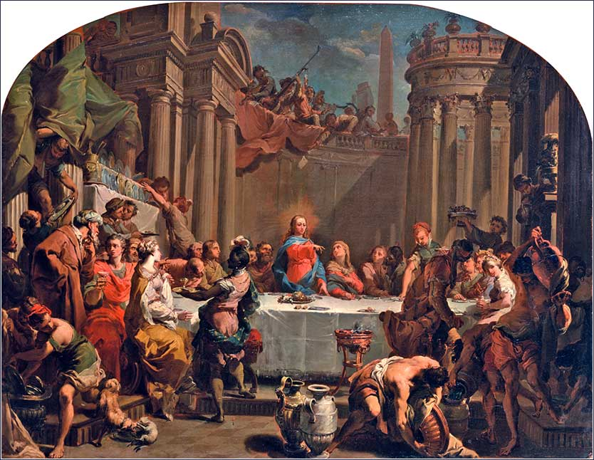 <i>The Marriage at Cana</i>, by Gaetano Gandolfi, 1766