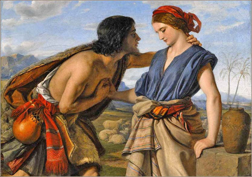 <i>The Meeting of Jacob and Rachel</i>, by William Dyce, ca. 1850.