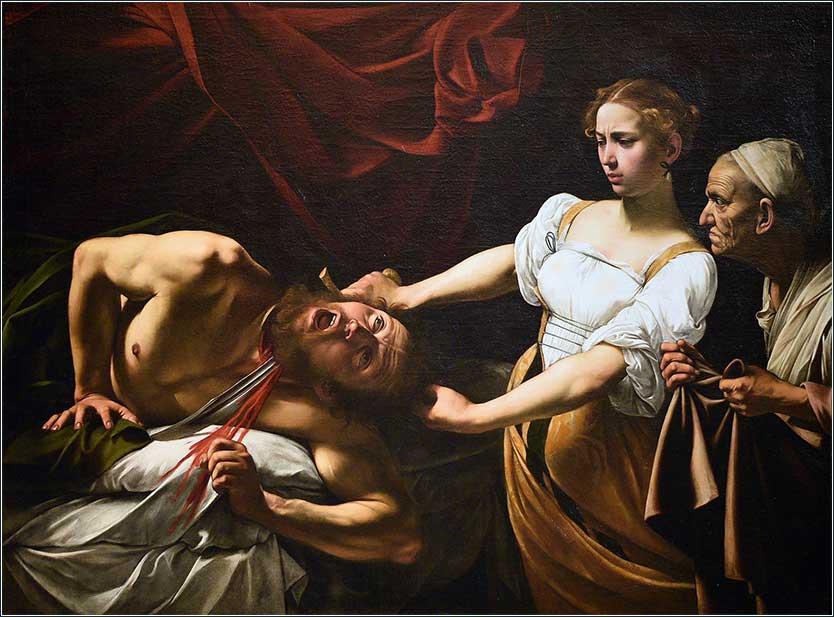 "<i>Judith Beheading Holofernes </i>, by Caravaggio, ca. 1599. The so-called ""Caravaggio in the Attic"" was discovered in the attic of an old house in Toulouse, France, in 1950."