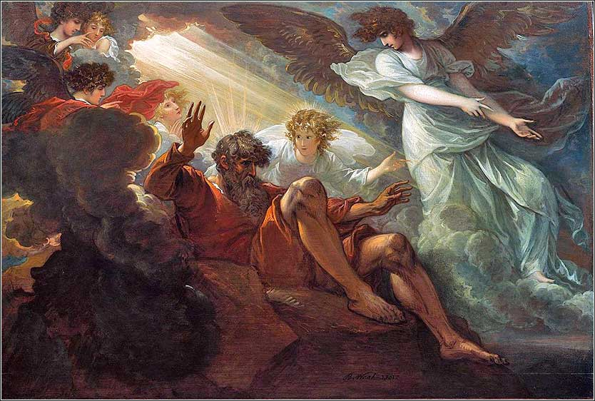 <i>Moses Shown the Promised Land</i>, by Benjamin West, 1801.
