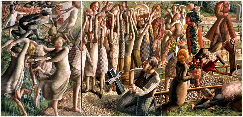 <i>The Resurrection:Rejoicing,</i> by Stanley Spencer, ca. 1946.