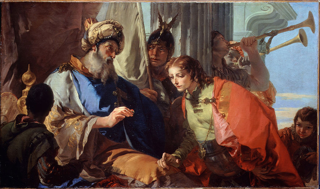 <i>Joseph Receiving Pharaoh's Ring</i>, by Giambattista Tiepolo, ca. 1735