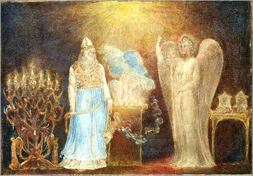 <i>The Angel Appearing to Zacharias</i>, by William Blake, ca. 1800.